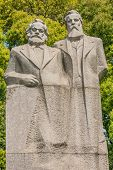 marx and engels statue in fuxing park shanghai popular republic of china