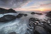 Sundown Over Giants Causeway, North Ireland