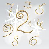 Golden Numbers Festive Set