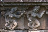 Detail Of Bas Relief On Chien Dam Cham Towers: Dancing Girls.