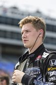 Fort Worth, TX - Jun 07, 2013:  Josef Newgarden (67) takes to the track for a practice session for t