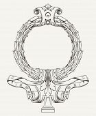 Vector Wreath Frame Background.