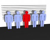 pic of police lineup  - line up of people - JPG