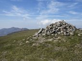 the summit cairn on Slieve Commedagh