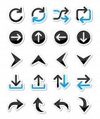 Pfeil Vektor Icon-sets-isoliert