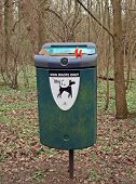 stock photo of pooper  - Bin for the safely deposal of dog excrement - JPG