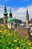 beautiful Salzburg in spring