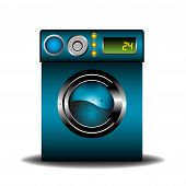 Blue washing machine