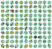 Collection Of 121 Tools Doodled Icons