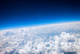image of ozone layer  - Photo Planet Earth aerial view - JPG