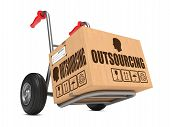 stock photo of hand truck  - Outsourcing  - JPG
