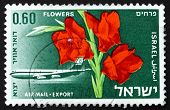 Postage Stamp Israel 1968 Boeing 707 And Gladiolus Flower