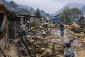 Road Works In The Hmong Village.