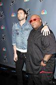 Adam Levine and Cee Lo Green at NBC's