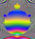 stock photo of mandelbrot  - A computer generated fractal of a portion of the classic Mandelbrot set - JPG