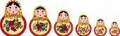 set of 6 russian dolls