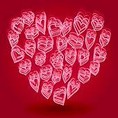Doodle Heart Shape