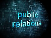 Marketing concept: Public Relations on digital background