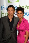 Olivier Martinez and Halle Berry at the Silver Rose Awards Gala, Beverly Hills Hotel, Beverly Hills,