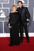 Lorna Luft and Barry Manilow at the 53rd Annual Grammy Awards, Staples Center, Los Angeles, CA. 02-13-11