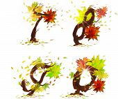 Autumn's numbers, part of alphabet