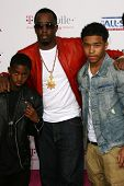 Sean 'P Diddy' Combs and Family  at the 2011 T-Mobile NBA All-Star Game, Staples Center, Los Angeles
