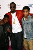 Sean 'P Diddy' Combs and Family at the 2011 T-Mobile NBA All-Star Game, Staples Center, Los Angeles,
