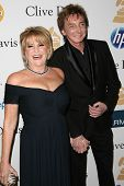 Lorna Luft and Barry Manilow at the Clive Davis Pre-Grammy Awards Party, Beverly Hilton Hotel, Beverly Hills, CA. 02-12-11