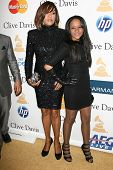 Whitney Houston and daughter Bobbi Kristina  at the Clive Davis Pre-Grammy Awards Party, Beverly Hil