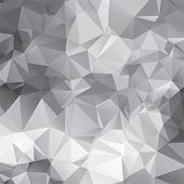 Vector Abstract Background With Triangular Mosaic Pattern