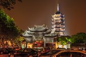 Pagoda In Night