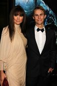 Alice Parkinson and Rhys Wakefield at the World Premiere of