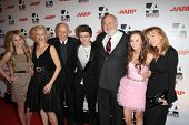Penelope Ann Miller, Carl Reiner, Callan McAuliffe, Rob Reiner, Madeline Carroll and Rebecca De Mornay at AARP Magazine's Movies For Grownups, Beverly Wilshire Hotel, Bevely Hills, CA. 02-07-11