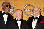 Morgan Freeman, Tim Conway and Ernest Borgnine at the 17th Annual Screen Actors Guild Awards Press R