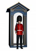 Royal British Guardsman Near Guard Box