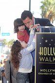 Adam Sandler, Sadie Sandler, Sunny Sandler  at Adam Sandler's Star on the Hollywood Walk of Fame ceremony, Hollywood, CA. 02-01-11