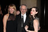 Kate Capshaw, Steven Spielberg, Sasha Spielberg at the 23rd Annual Producers Guild Awards, Beverly Hilton, Beverly Hills, CA 01-21-12