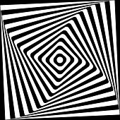 Abstract Square Spiral Black and White Pattern Background.