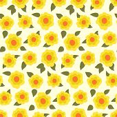 Ditsy floral pattern with small daffodils