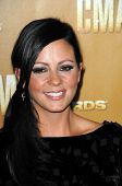 Sara Evans at the 44th Annual CMA Awards, Bridgestone Arena, Nashville, TN.  11-10-10