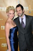 Katherine Heigl and Josh Kelly  at the 44th Annual CMA Awards, Bridgestone Arena, Nashville, TN.  11