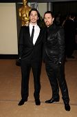 Justin Long and Sam Rockwell  at the  2nd Annual Academy Governors Awards, Kodak Theater, Hollywood, CA.  11-14-10