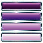 Violeta largo metálico