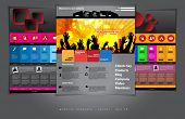 Website design template. Easy editable vector.
