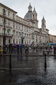 Navona Square Rainy Weather