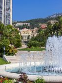 Principality of Monaco, France, on July 5, 2011. Typical look at residential area