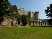 The ruins of the castle Boskovice.