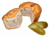 Pork Pie And Pickled Gherkin