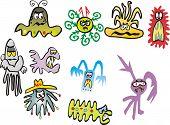 Cartoon germs and bacteria