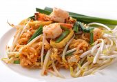 Thai Food Pad Thai , Stir Fry Noodles With Shrimp